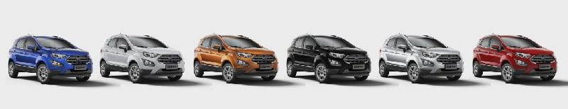 Colores de Ford Ecosport Plan Nacional Autos