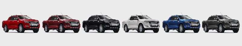 Colores de Ford Ranger Plan Nacional Autos