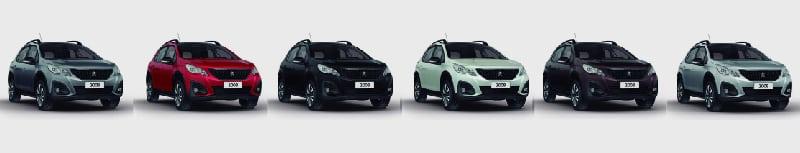 Colores disponibles de Peugeot 2008 Plan Nacional