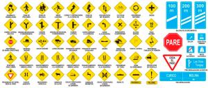 Algunas de las señales de tránsito